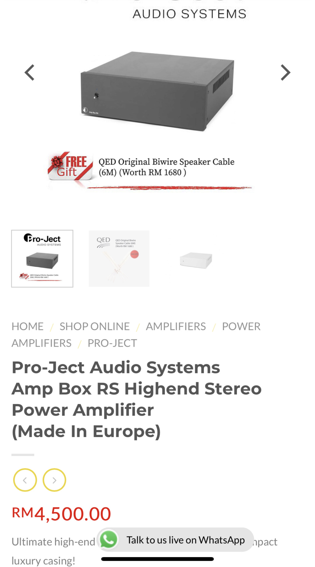Project Amp Box RS hiend power amp 667bd510