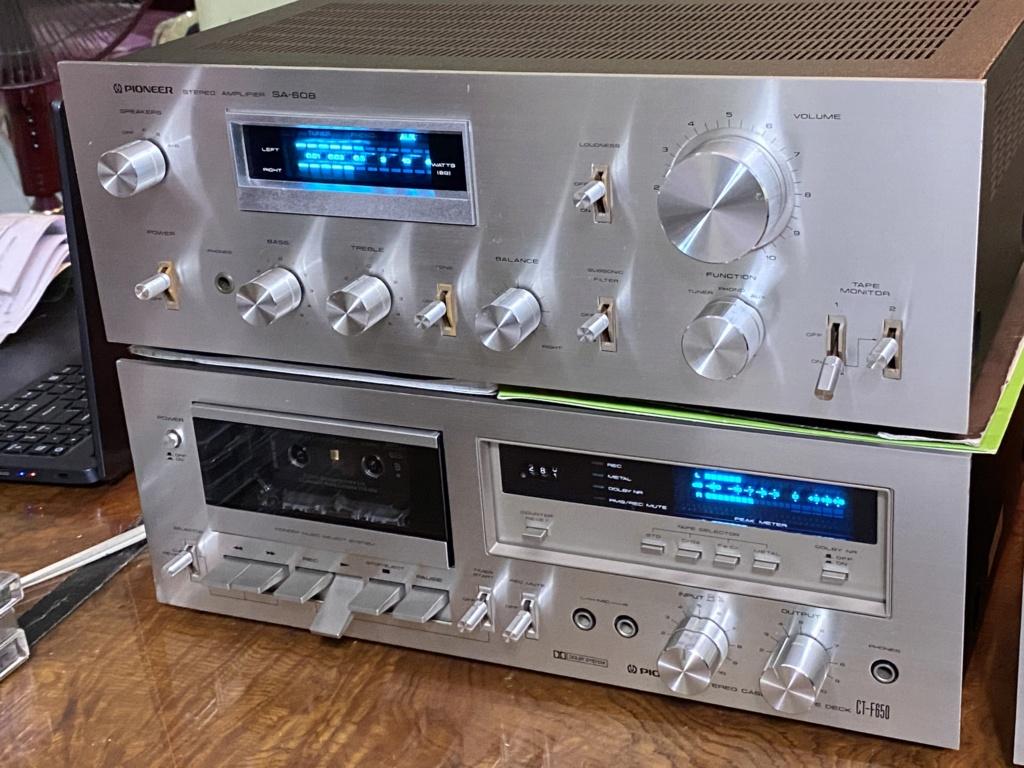 Pioneer amp deck& sansui Eq blueline series  A7567a10
