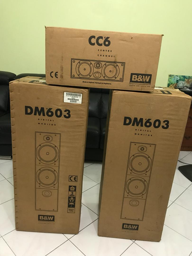 B&W DM 603 & CC6 Speakers( SOLD) B112