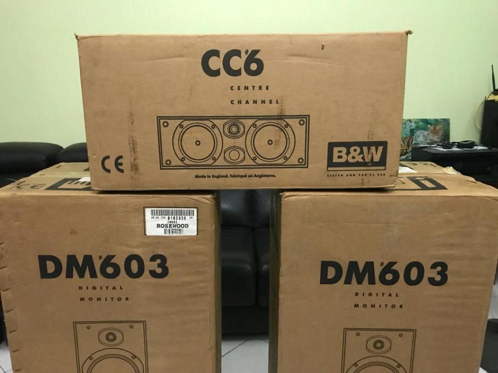 B&W DM 603 & CC6 Speakers( SOLD) B212