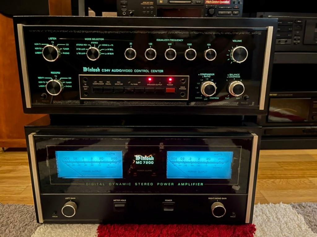 McIntosh power MC 7200 & pre C 34v Cc28d610