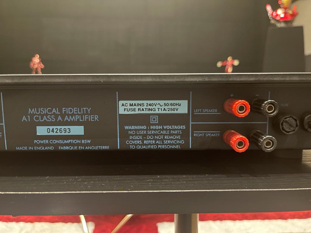 Music fidelity A1 class integ amplifier sold  Cef71110
