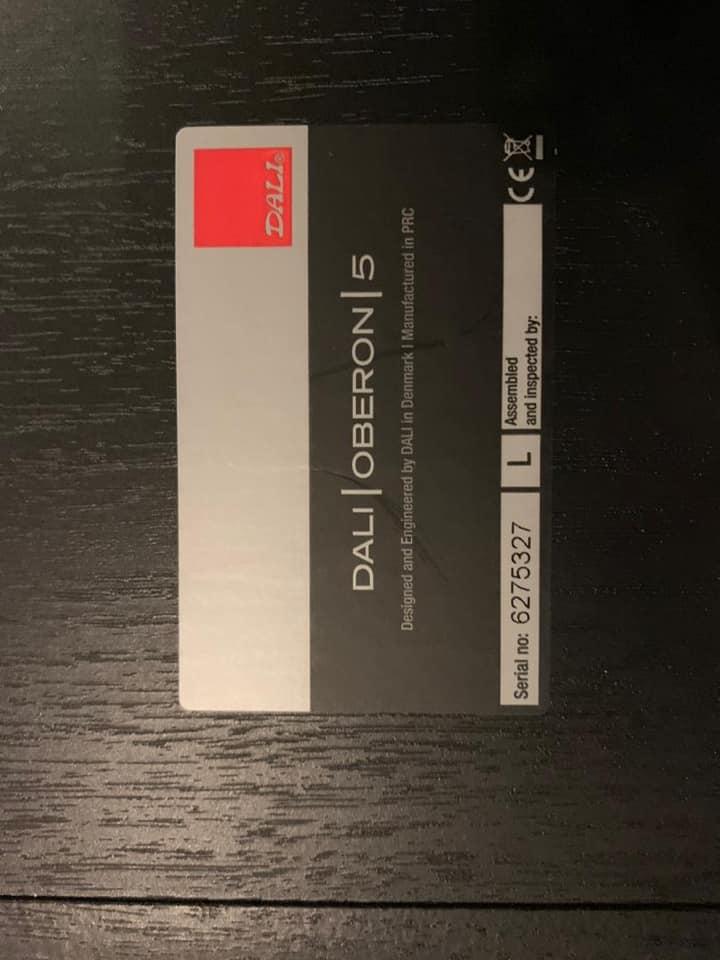 Dali Oberon 5 FloorStand Speaker SOLD D310