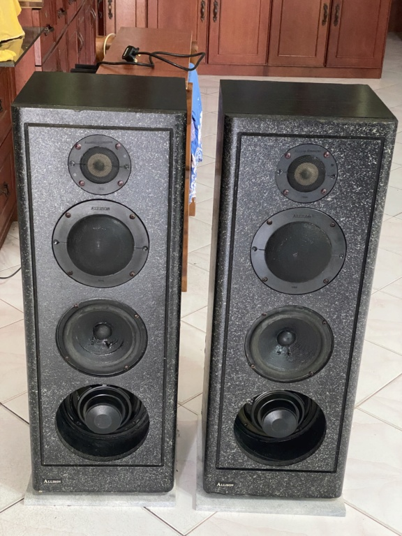 Vintage Allison acoustic floor stand speakers  E6a7a710