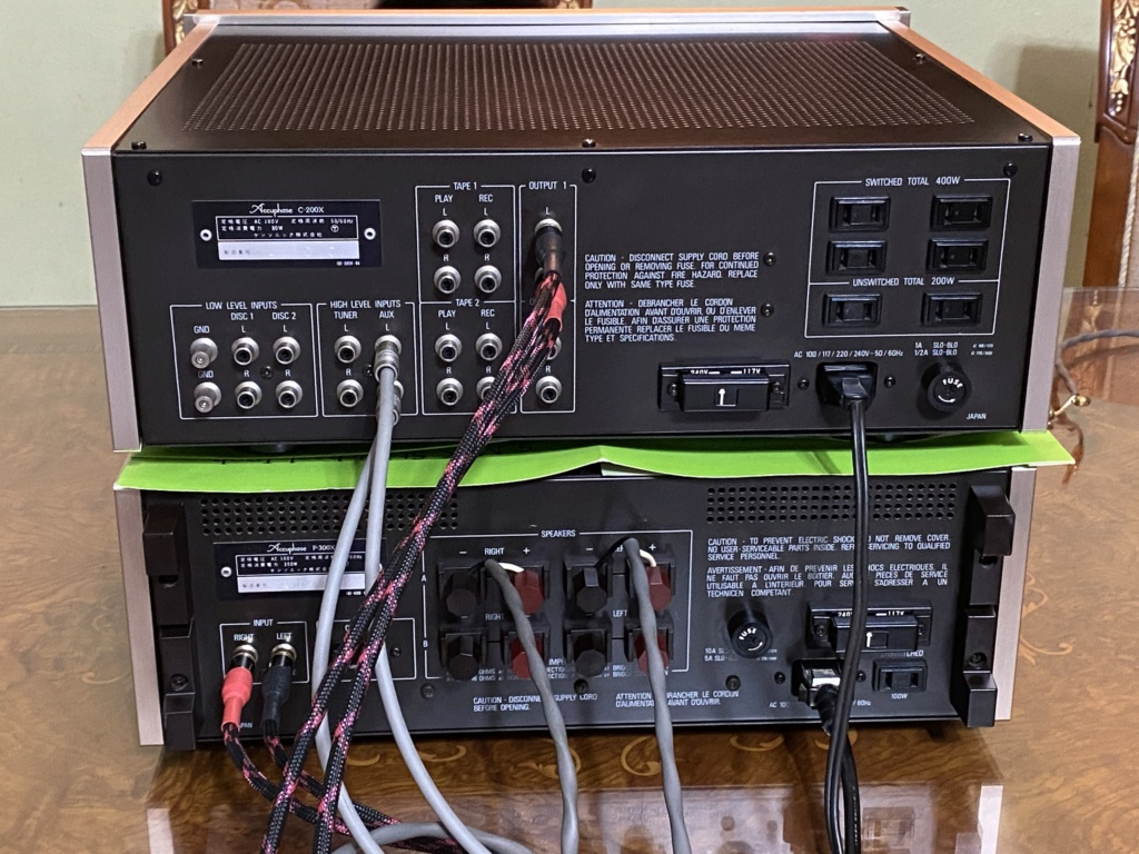 SOLD Accuphase P-300X & C-200X super mint Ee709b10