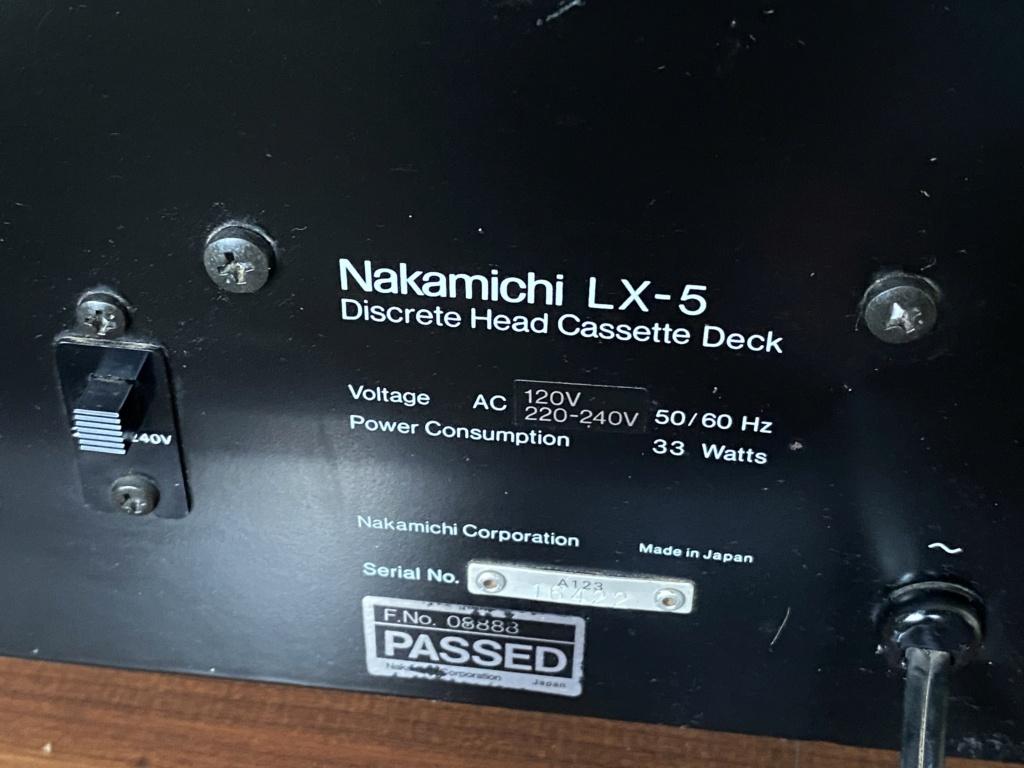 Nakamichi LX-5 3head cassette deck sold Fe682e10