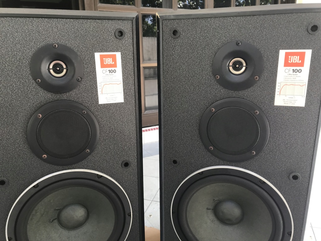 "JBL CF100 Speaker 3 way 10"" woofer( USA) Img_1713"