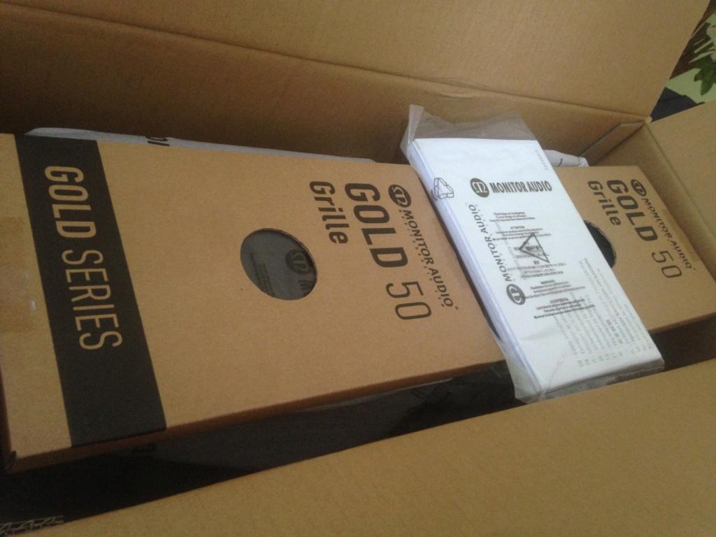 Monitor Audio Gold 50 Speakers (NEW*)Dark walnut Img_6314