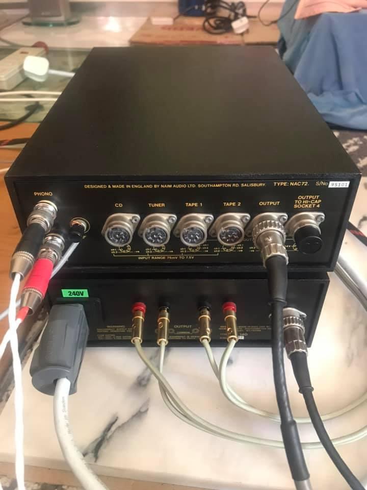 Naim NAC 72 Phono Pre-Amp with and NAP 140( NOS) W/BOX N214