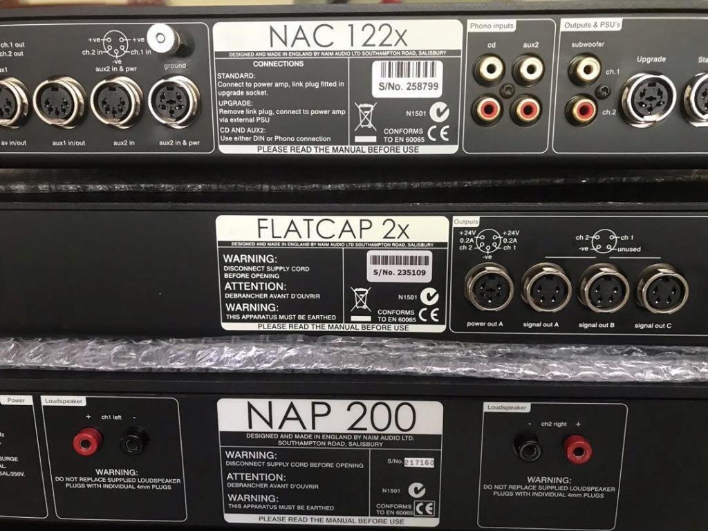 Naim pre 122x & power nap200 n 2x flat cap N313