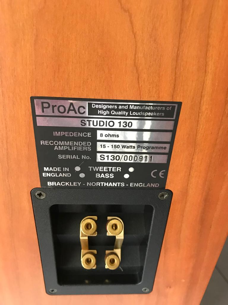 Stunning ProAc Studio 130 Floor Standing Speakers - Great Condition  P319