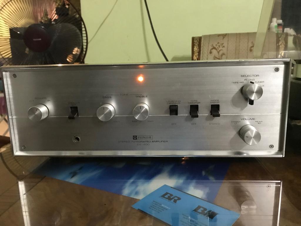 Pioneer SA-400 Valve/Tube Amplifier  (circa 1969). Sa4110