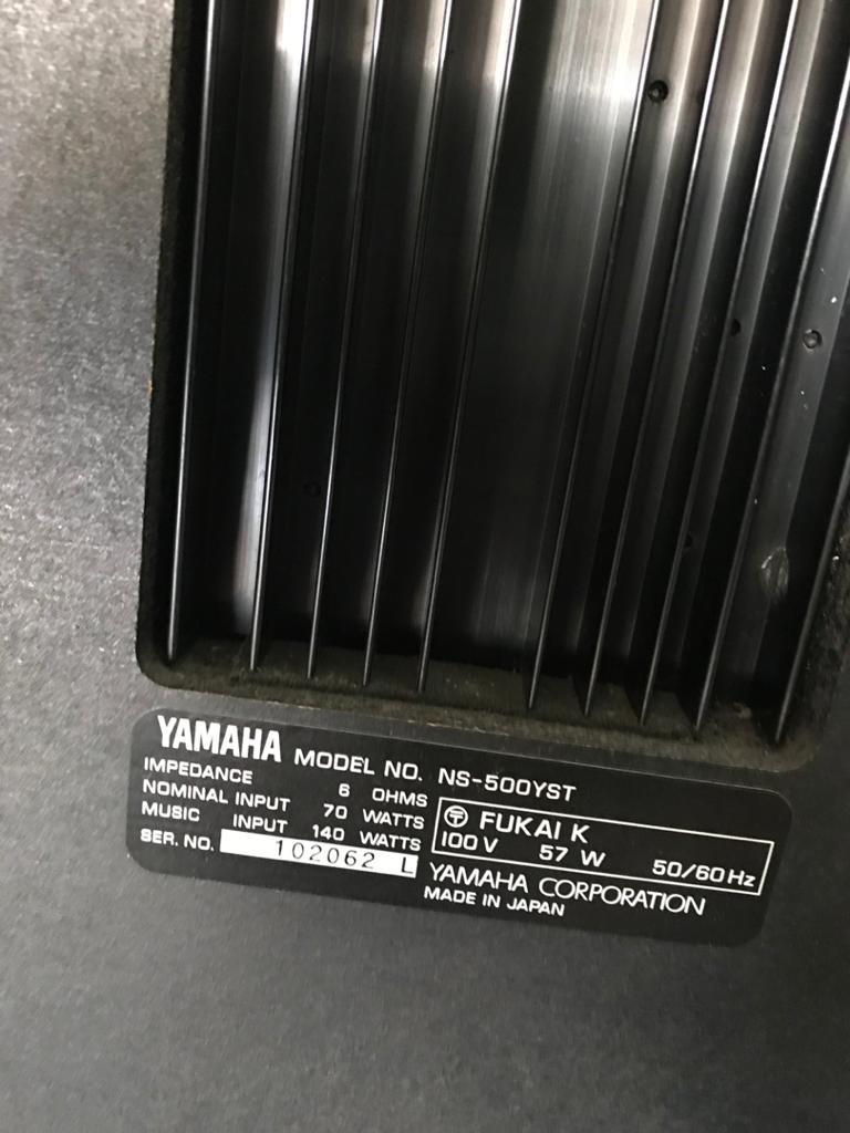 vintage YAMAHA NS-500- YST speakers made in japan Y212