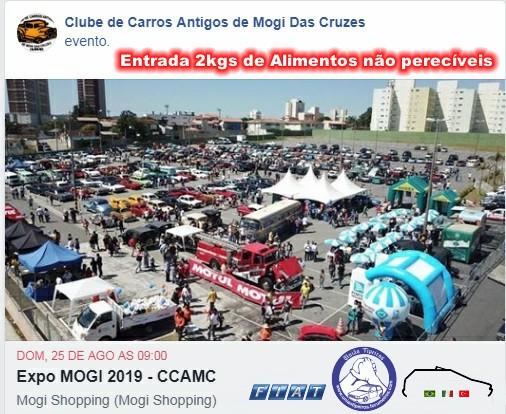 Expo Mogi 2019 - 25 Agosto - Organizaçao Clube de Carros Antigos de Mogi Encont12