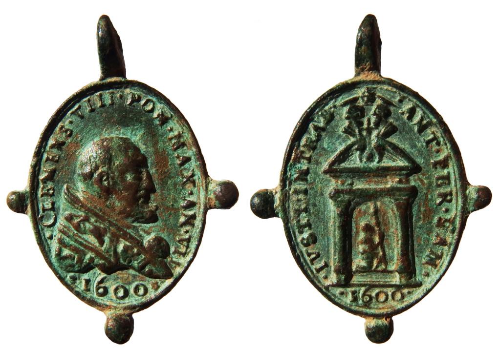 Clemente VIII / Puerta Santa - Jubileo 1600 - S. XVII (R.M. SXVII-O502) 2_89_310