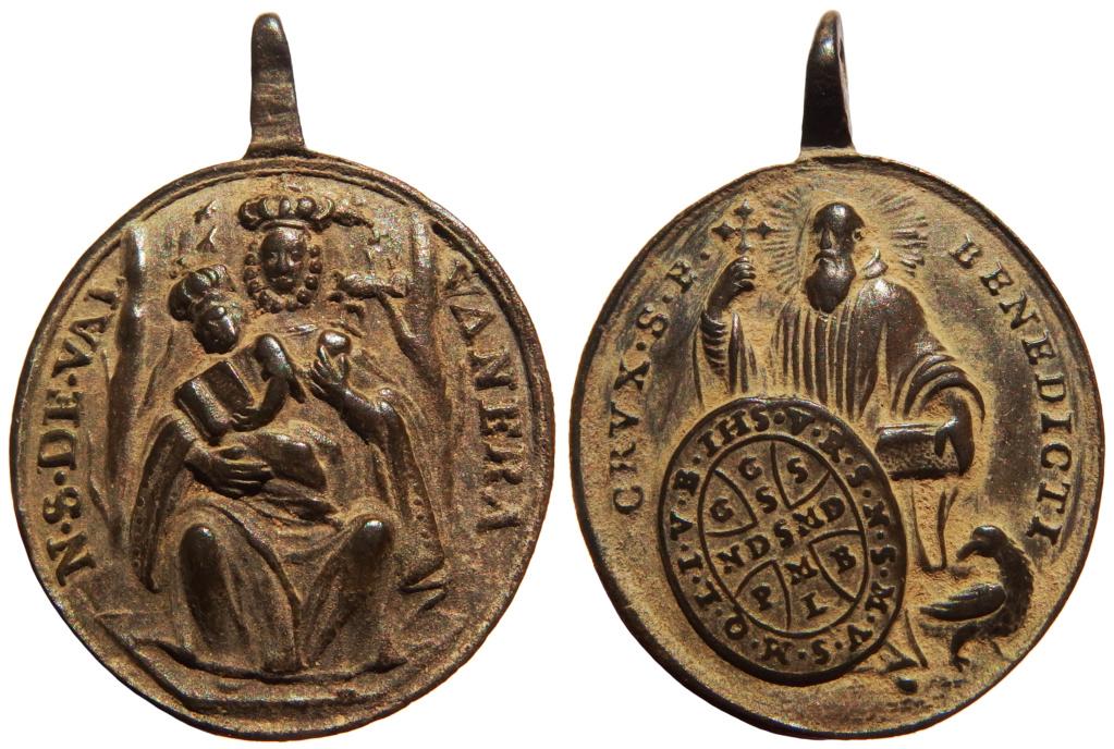 Virgen de Valvanera / San Benito de Nursia - (R.M. SXVIII-O419) (AM) 38-29x11
