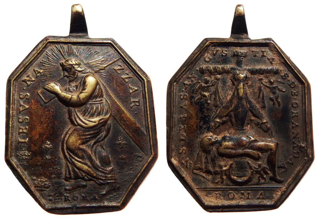 Jesús con la Cruz a Cuestas / Virgen de las Angustias de Granada - S. XVIII 48-38x10
