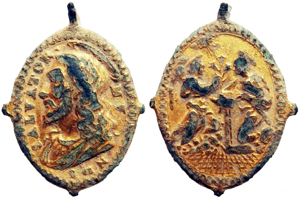 Salvator Mundi / Anunciación de la Virgen - s. XVII (R.M. Pe Salvator 25) 4_82_210