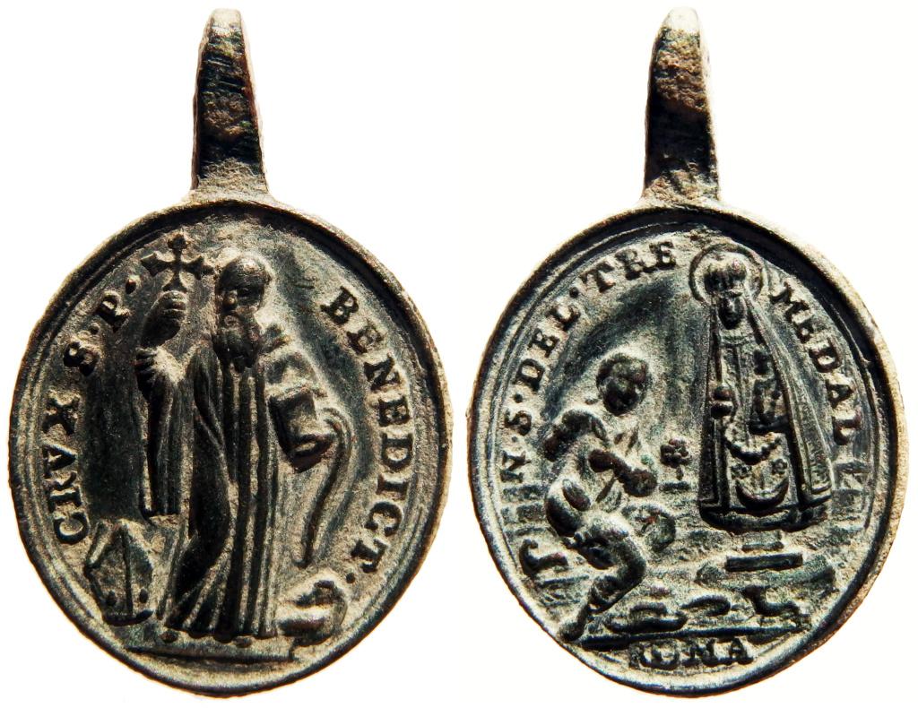 San Benito de Nursia / Virgen del Tremedal - s. XVIII (R.M. SXVIII-O469) 5_72-310