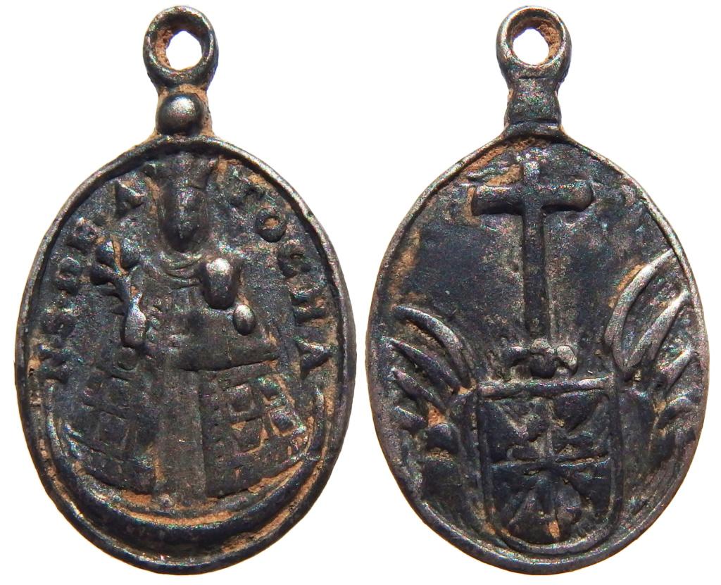 Nuestra Señora de Atocha / Escudo Dominico - (R.M. SXVII-O529) At10