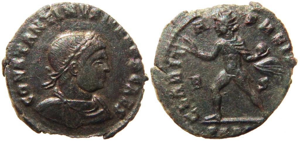 Nummus de Constantino II. CLARITAS REIPVB. Arlés Bid01010