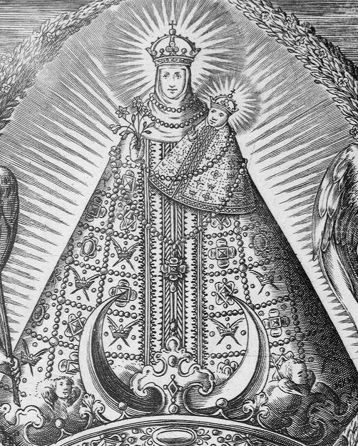 Nuestra Señora de Atocha / Escudo Dominico - (R.M. SXVII-O529) Courbe10