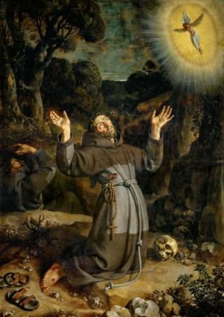 Inmaculada Concepción / Jesús y María con San Francisco de Asís - s. XVII F6b52311