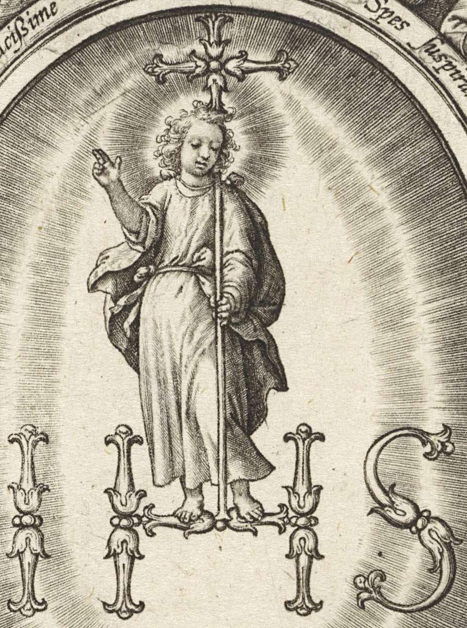 Inmaculada Concepción / IHS Nómina Sacra - s. XVII Ihs11