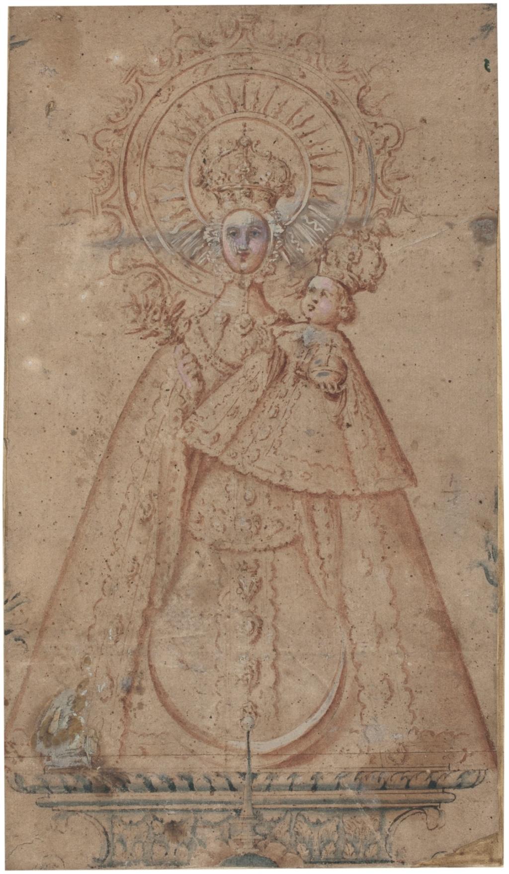 Nuestra Señora de Atocha / Escudo Dominico - (R.M. SXVII-O529) Imagen10