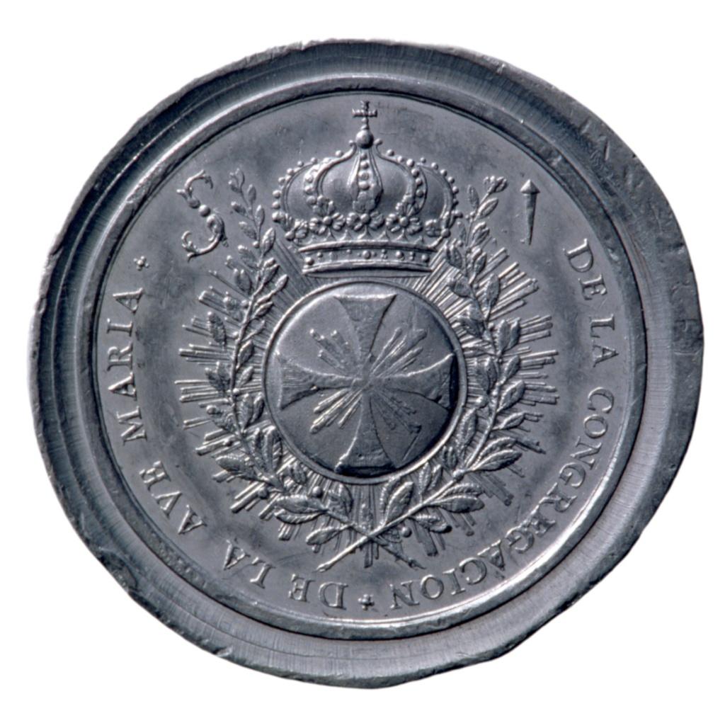 Beato Simón de Rojas / Emblema de los Esclavos de la Congregación del Ave María - S. XVIII Medall10