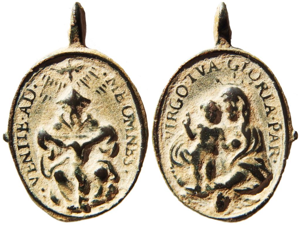 Santísima Trinidad / Virgen con Niño - s. XVII P1160015