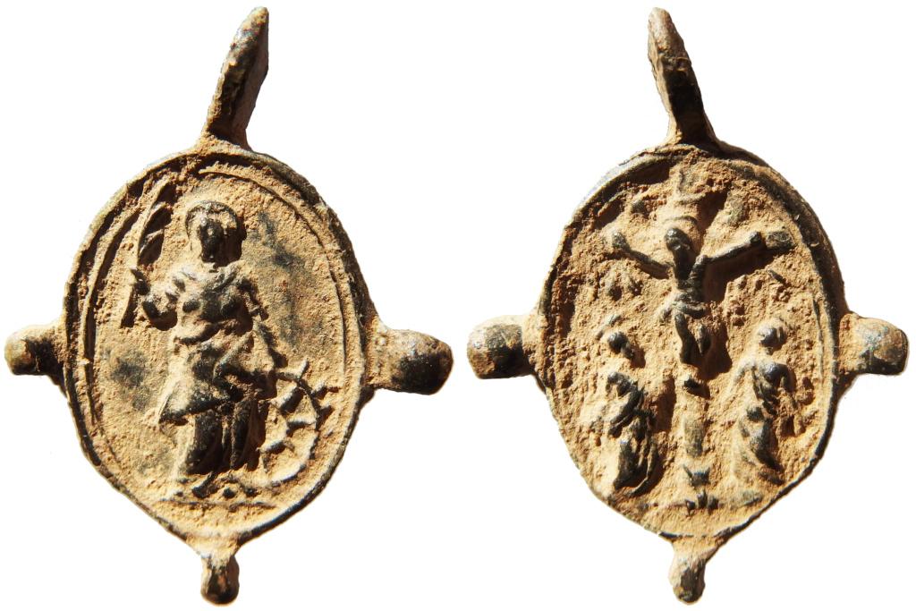 Santa Catalina de Alejandría / Crucifixión - s. XVII P1160019