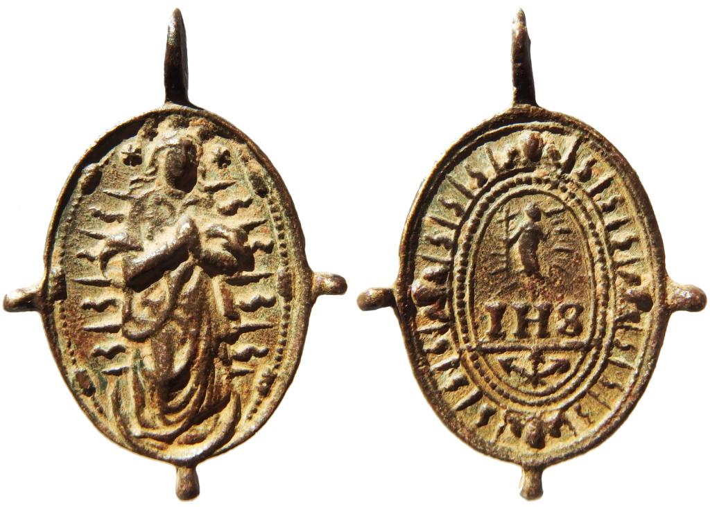 Inmaculada Concepción / IHS Nómina Sacra - s. XVII P1160023
