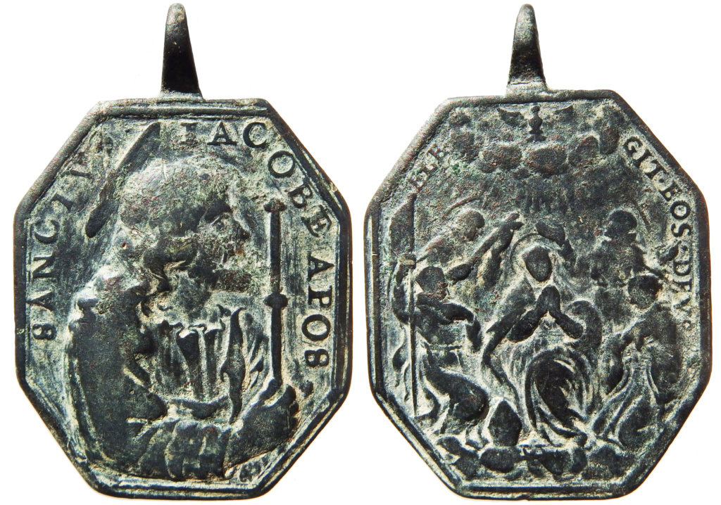 Santiago Peregrino / Cinco santos canonizados en 1690 - s. XVII P1290012
