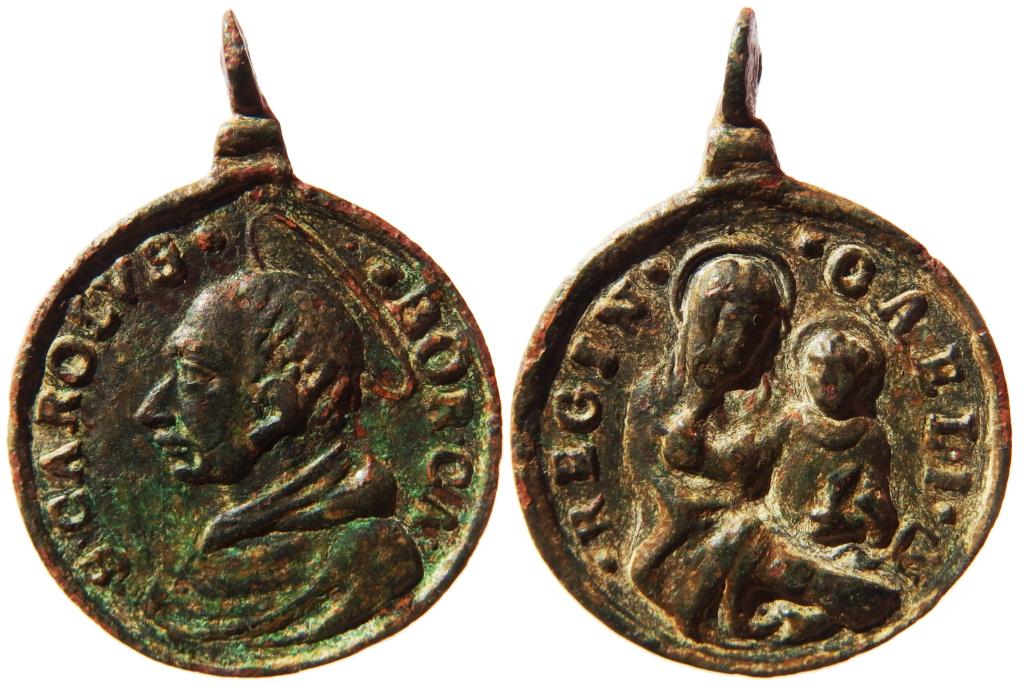 San Carlos Borromeo / Virgen con Niño - S. XVII (R.M. SXVII-C104) P2050310