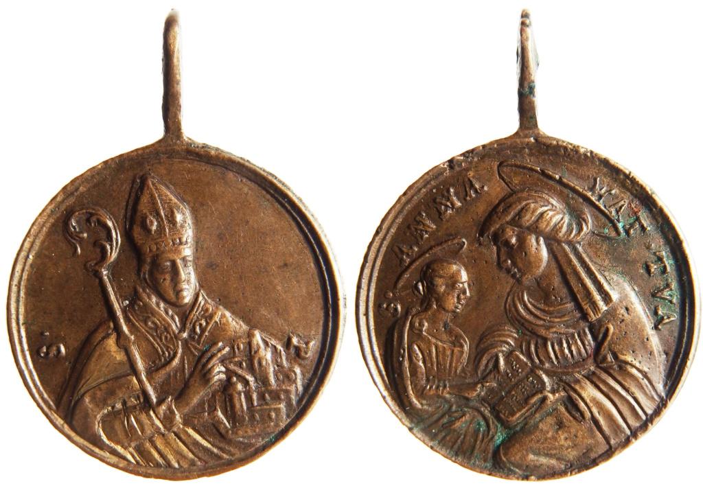 San Emigdio de Áscoli /  Educación de la Virgen - s. XVIII  (R.M.Medalla tipo: SXVIII-C196) P3050010
