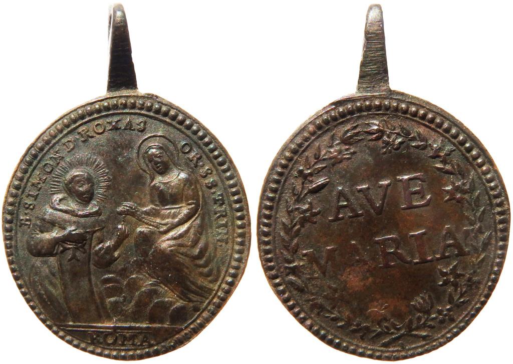 Beato Simón de Rojas / Inscripción Ave Maria - s. XVIII P3090111