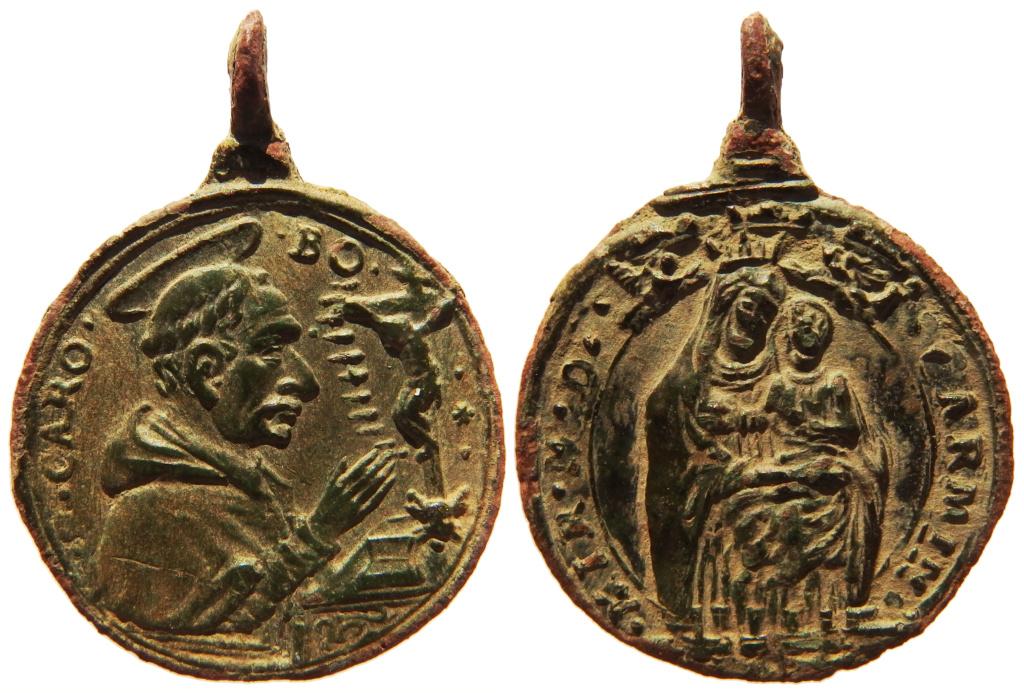 San Carlos Borromeo / Virgen del Carmen - S. XVII (R.M.  SXVII-C106) P3140211