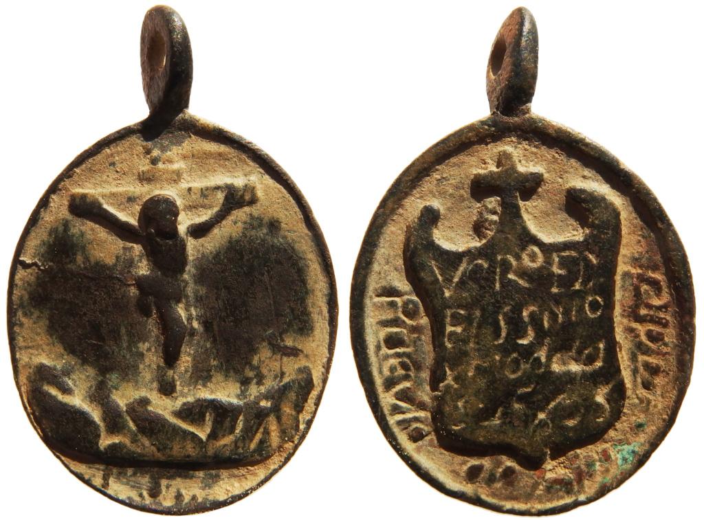 Medalla del Sto. Cristo de la Salud / Inscripción - s. XVII (RM SXVII-O324) P3250110