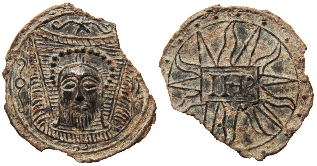 Santa Faz / IHS Nomina Sacra - S. XVI (R.M. SXVI-C21) P3260010