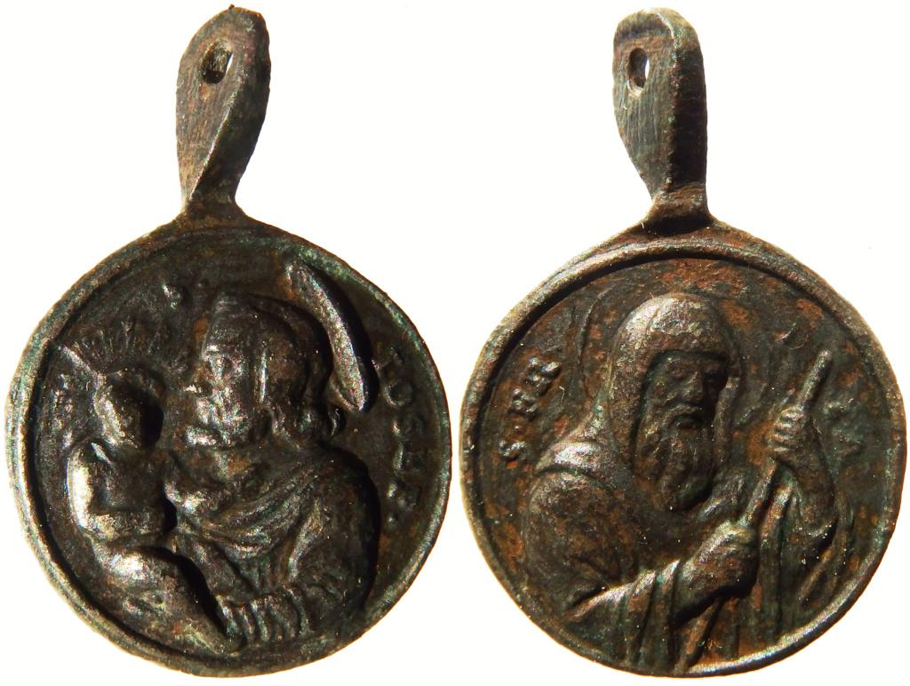 Medalla S. José / S. Francisco de Paula - s. XVIII P3260112
