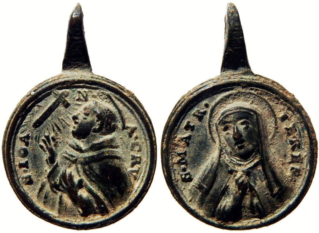 Beato Juan de la Cruz / Santa Teresa de Jesús - ff. s. XVII o pp. s. XVIII (R.M. SXVIII-C182) P3260215