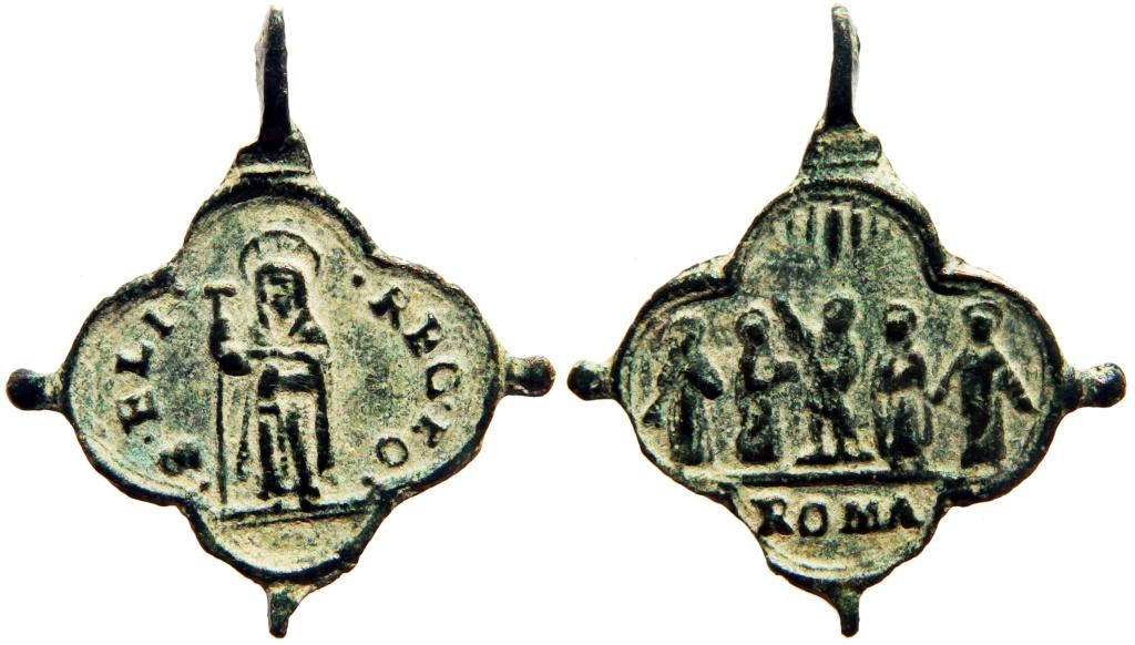 Santa Isabel de Portugal / Cinco Santos canonizados en 1622 - s. XVII P5030111