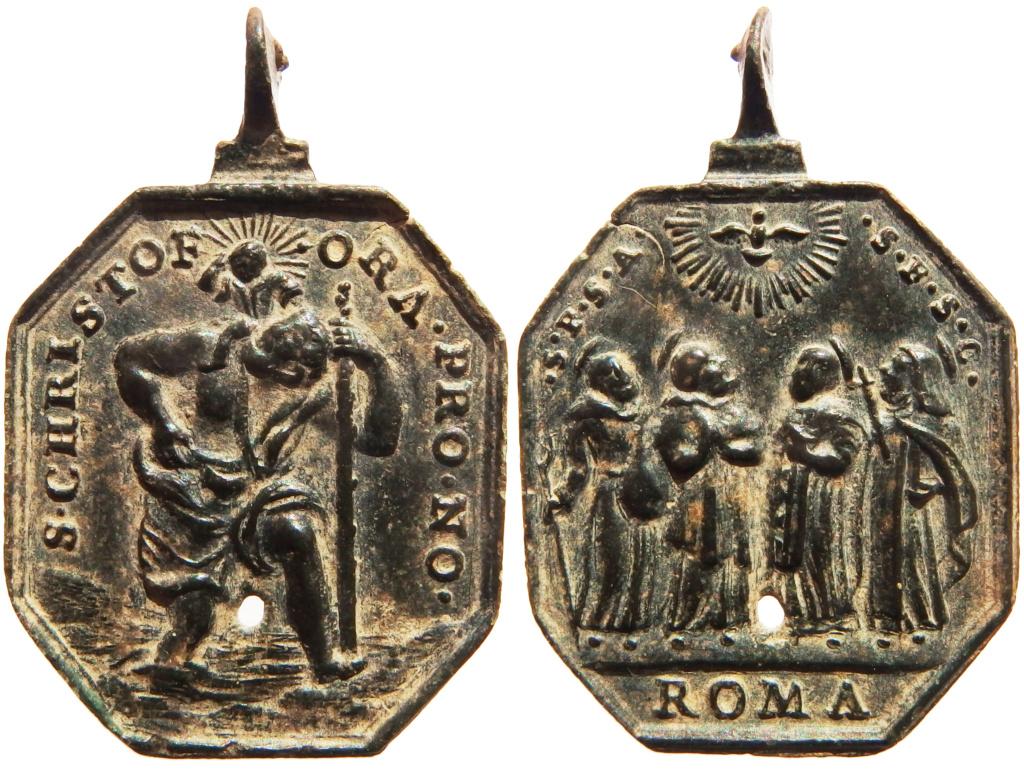 San Cristóbal / Cuatro santos canonizados en 1712 - s. XVIII P5140413