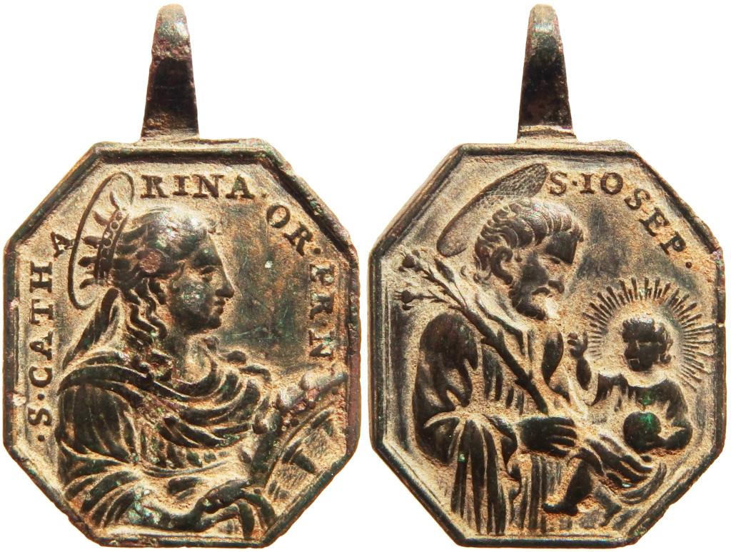 Santa Catalina de Alejandría / San José - s. XVIII P5140414