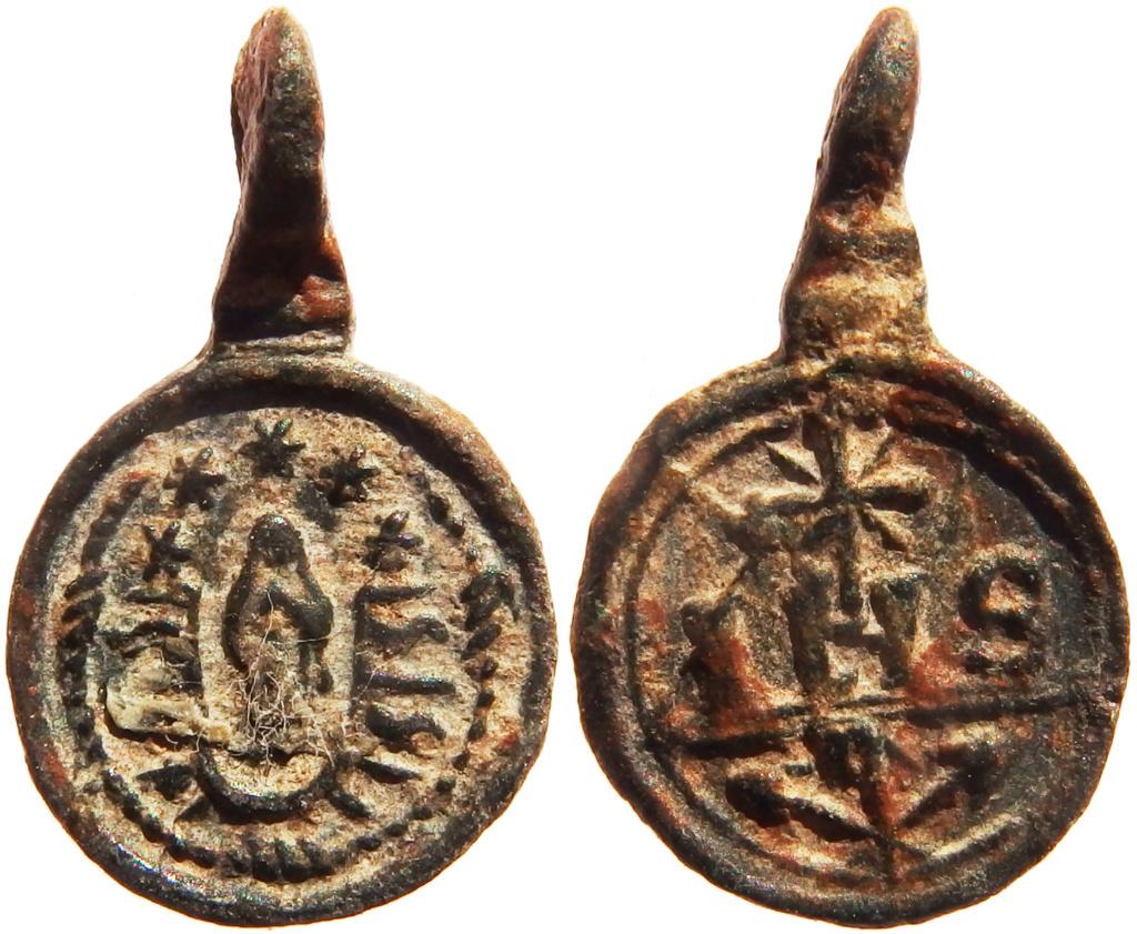 Inmaculada Concepción / IHS Nómina Sacra - s. XVII P5140517