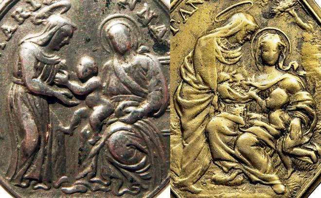 Santa Ana con María y el Niño (Santa Ana Triple) / Santísima Trinidad - (R.M. SXVIII-O478) P9120112