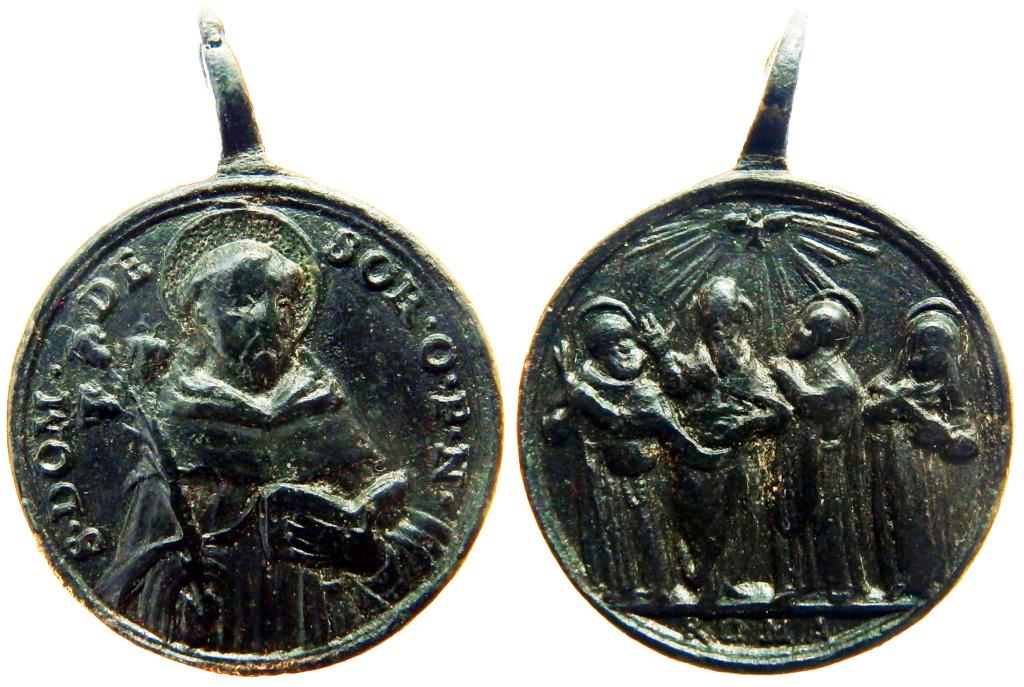 Santo Domingo de Soriano / Cuatro Santos canonizados en 1712 - s. XVIII P9250018