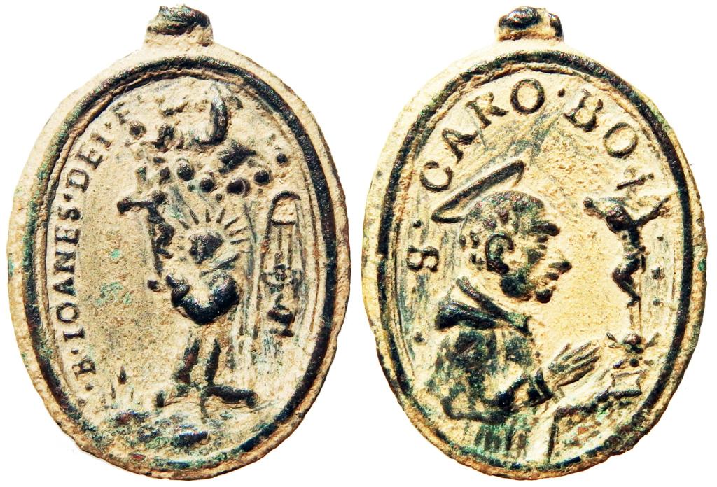 Beato Juan de Dios / San Carlos Borromeo - s. XVII P9290010