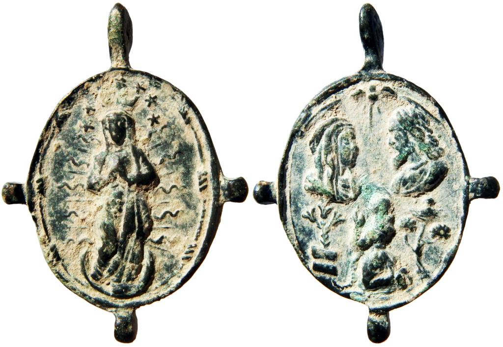 Inmaculada Concepción / Jesús y María con San Francisco de Asís - s. XVII Pa140011